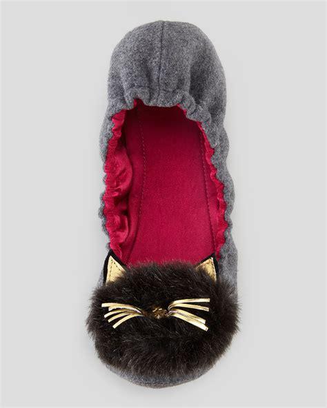 kate spade cat slippers kate spade new york flannel scrunch cat slipper xeuee