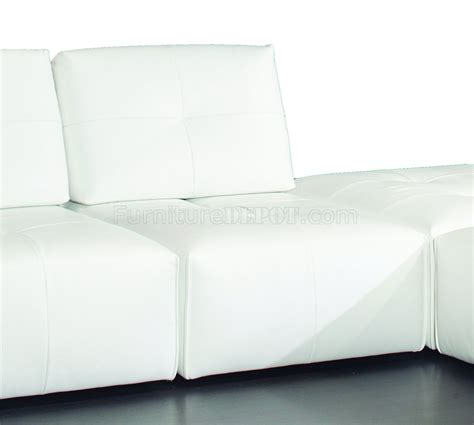 modular leather sectional sofa ibiza modular sectional sofa in white premium leather by j m