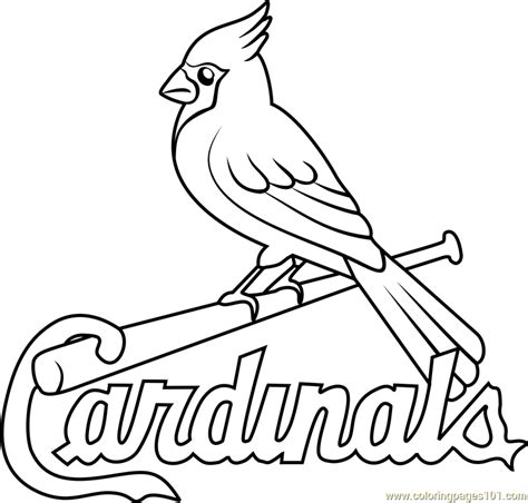 st coloring pages st louis cardinals logo coloring page free mlb coloring