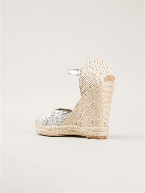 Stella Mccartney Sea Grass Wedges by Stella Mccartney Wedge Espadrille Sandal In Metallic Lyst