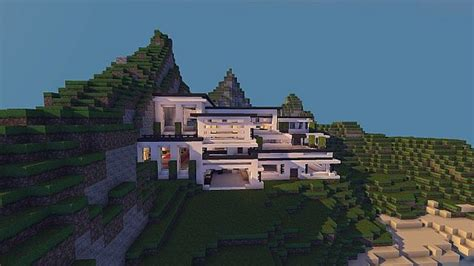 Modern Mansion ? Cliff Side Escape ? Minecraft Building Inc