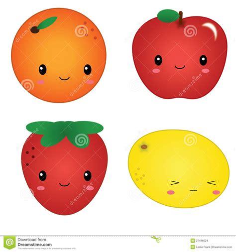 imagenes de frutas kawaii fruta linda de kawaii imagenes de archivo imagen 27416024