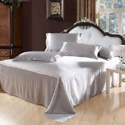 grey silk comforter aliexpress com buy silver grey silk satin bedding set