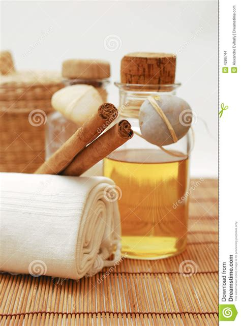 bathtub relaxation accessories spa accessories for wellness or relaxing stock images