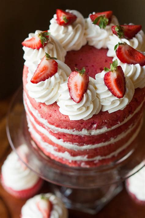 made from scratch strawberries cake the kitchen
