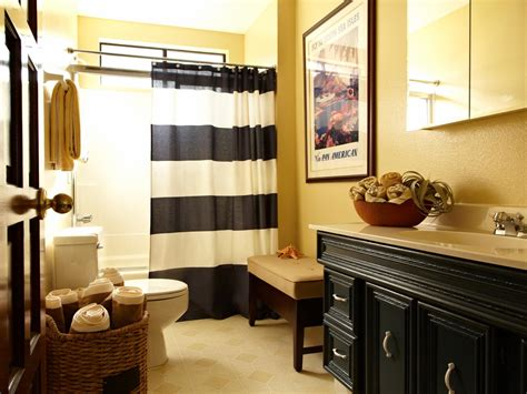 yellow and black bathroom photo page hgtv