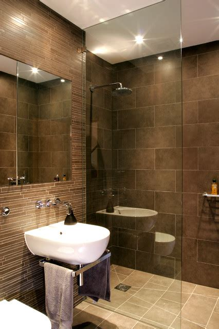sharp modern design basement shower room