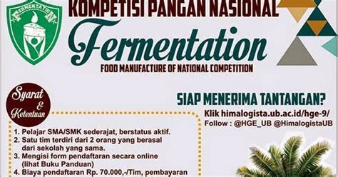 food manufacture  national competition hge