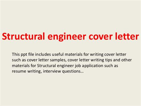cover letter for structural engineer position structural engineer cover letter