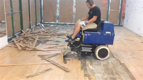 l2 floor care inc glued wood floor removal machine youtube