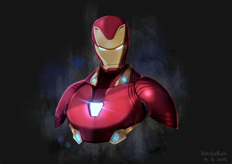 iron man avengers infinity war artwork laptop