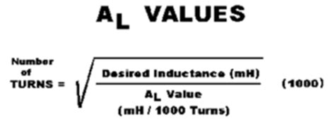 toroidal inductance formula ferrite toroid ring cores palomar engineers 174