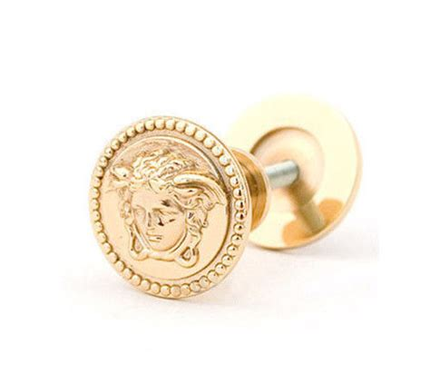 Versace Door Knobs by Versace Medusa Classic Gold Cabinet Knobs 2 Pieces 3 2