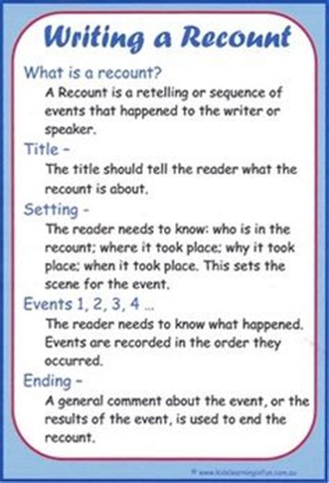short biography recount text 1000 images about writing recount on pinterest