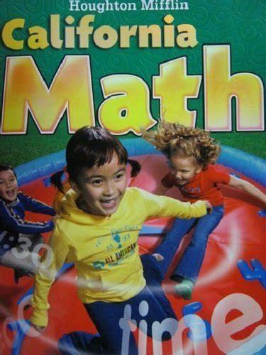 houghton mifflin mathmatics student edition level 2 2002 books houghton mifflin mathmatics california student edition
