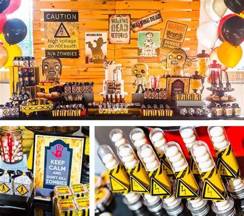zombie themed birthday party kara s party ideas walking dead zombie themed birthday