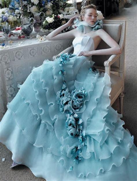 blue wedding dresses dressed up
