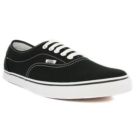 vans lpe new canvas womens trainers black white ebay