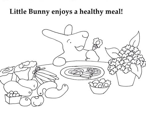 health eating coloring pages
