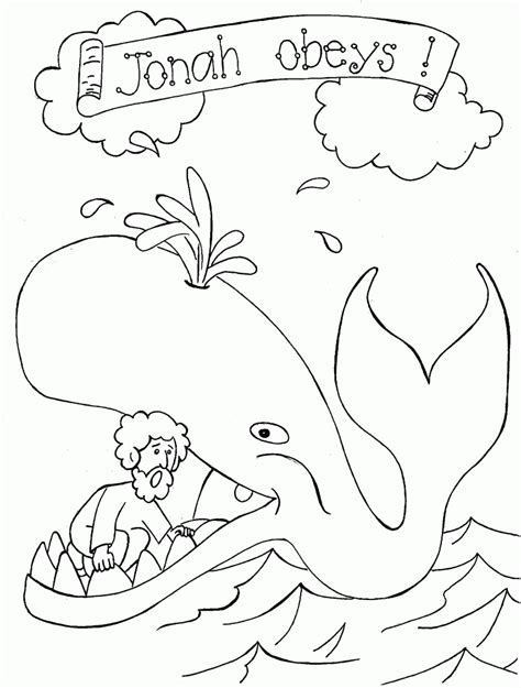 jonah and the whale coloring pages printable coloring pages
