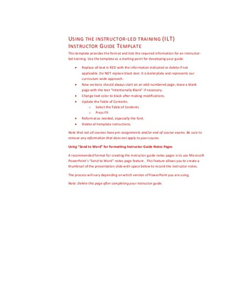 facilitator guide template facilitator guide template
