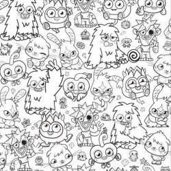 moshi monsters coloring pages getcoloringpages