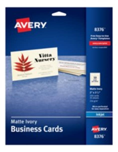 avery dennison business card template avery ivory matte business cards