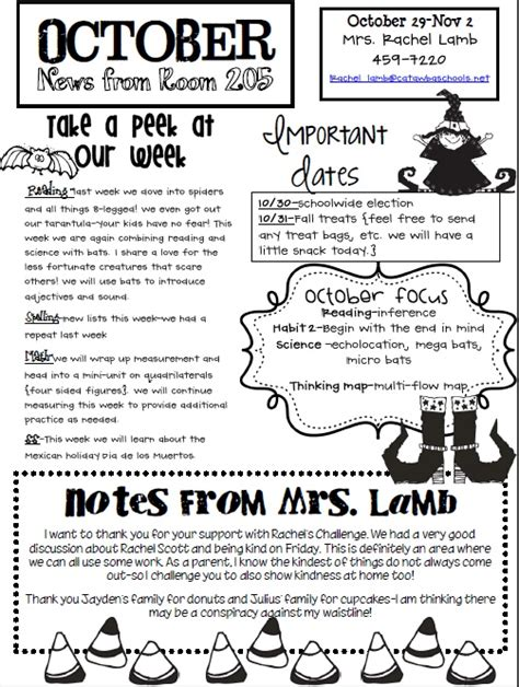 pta newsletter templates newsletter classroom