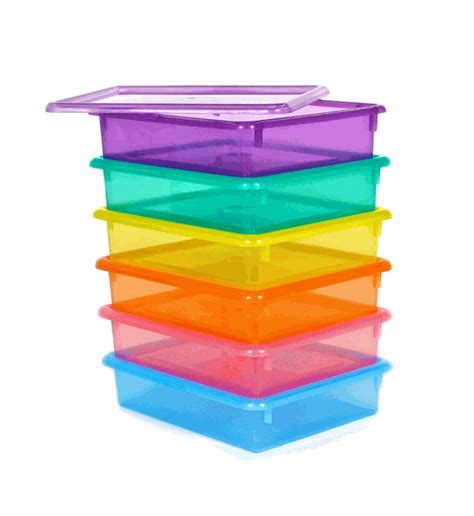 letter size colored plastic storage containers organize - Colored Plastic Storage Containers