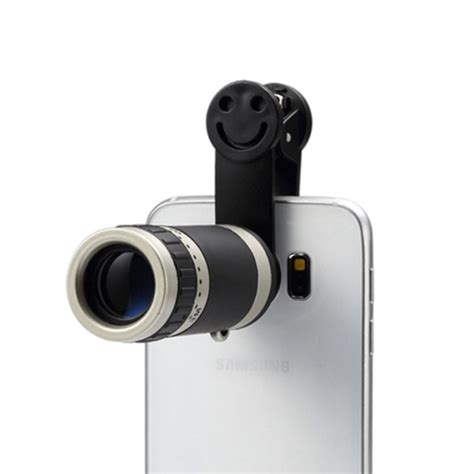 Lensa Tele Zoom 8x Universal Clip For Handphone Tabs universal 8x zoom telescope telephoto lens with smile clip for smartphone black alex nld