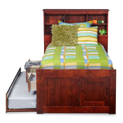 twin trundle bed with drawers ranger twin bookcase bed with 3 underbed drawers and
