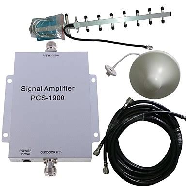 pcs 1900mhz cell phone signal booster lifier repeater antenna kit 500m2