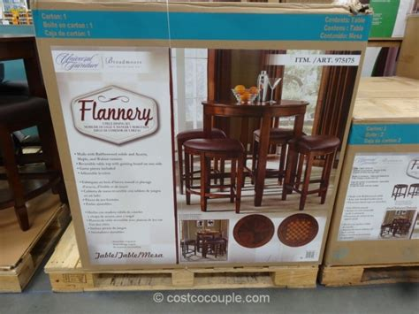 universal furniture california 7pc round dining room set w costco game table and chairs chairs seating