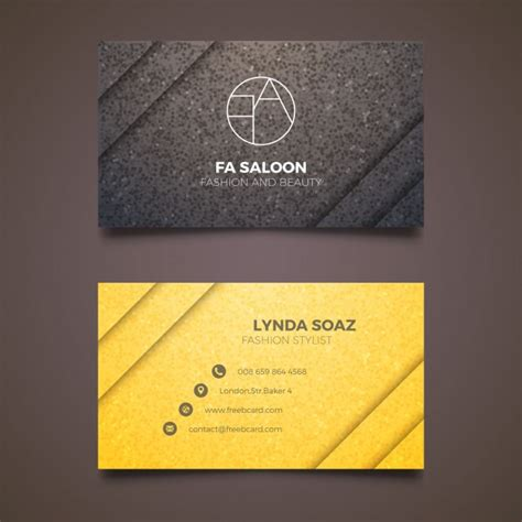 Gold Fashion Stylist Business Card Template by Business Card For Fashion Stylist Vector Free