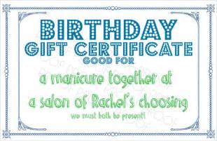 Dinner Gift Certificate Template by 10 Sle Birthday Gift Certificate Templates Sle
