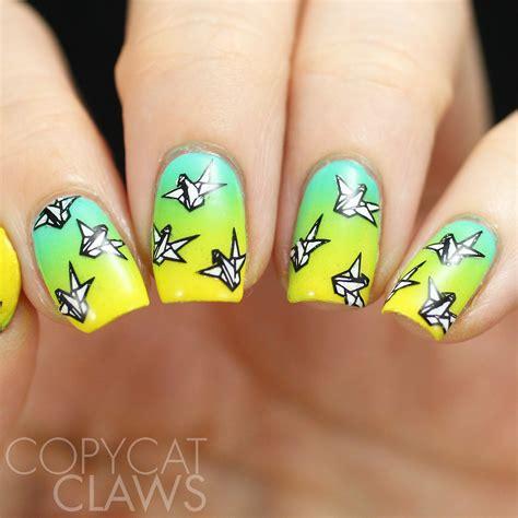 Origami Nails - copycat claws the digit al dozen does paper paper cranes