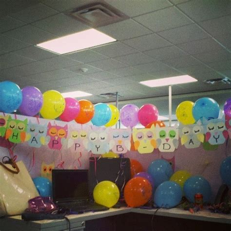 Birthday Decoration Ideas For Office Cubicles by Birthday Cubicle Decorating Ideas Studio Design Gallery Best Design