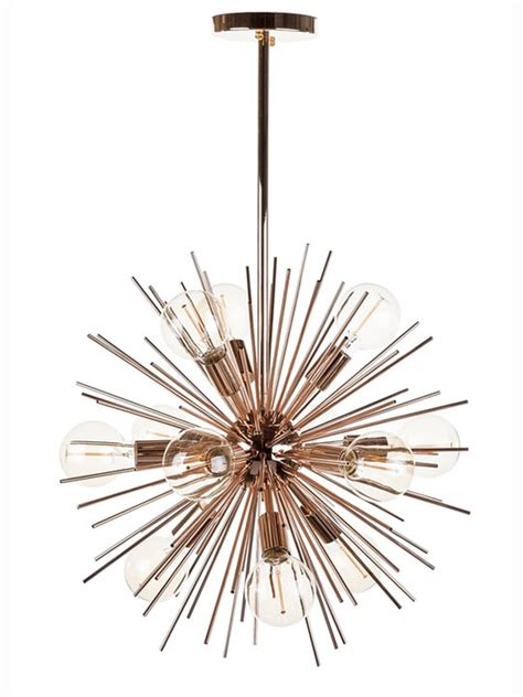 Spine Rose Gold Pendant Light   Modern Furniture