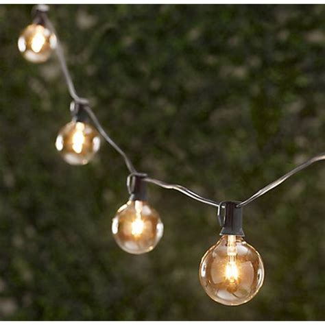 Vintage String Party Lights 25 Feet 25 Sockets Bulbs Outdoor Light Bulb String
