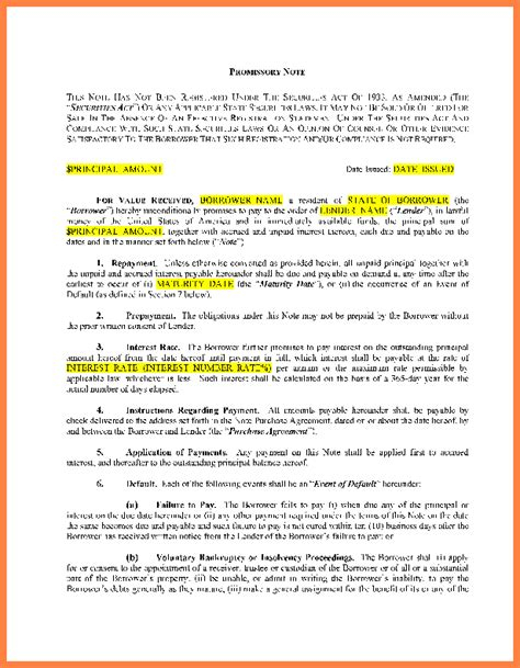 promissory note for personal loan template 8 loan agreement template between family members