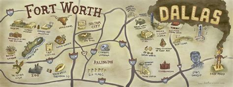 dallas fort worth texas map map dallas fort worth tx by kenton visser paper crafts printables fort