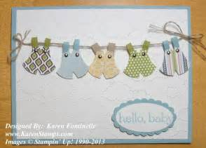 Using the stampin up owl punch for a baby card
