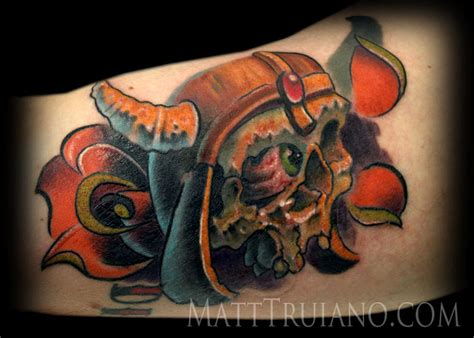 viking skull tattoos large image leave comment