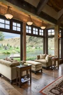Great Room Windows Inspiration Gorgeous Mountain Home With Amazing Windows Views Beautiful Seating Area In The Great Room