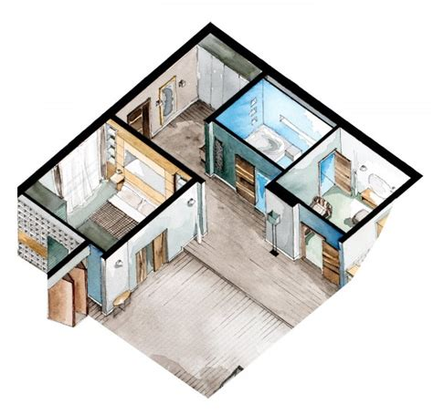 movie floor plans watercolor floorplans from recent television shows and