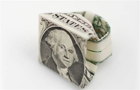 Money Origami Ring - paper money rings feel desain