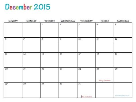 free editable calendar template image gallery editable december 2015