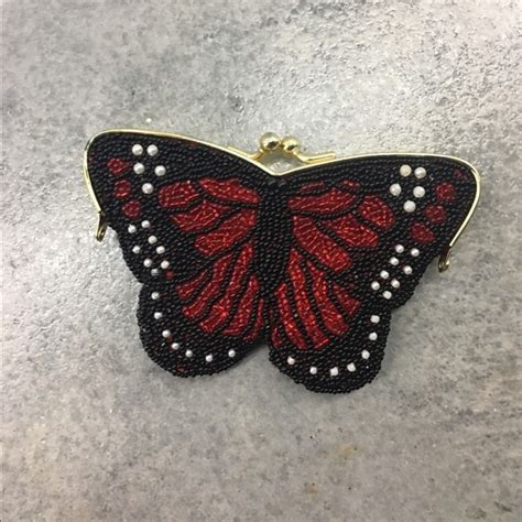 Butterfly Coin Purse vintage vintage butterfly beaded coin purse clutch