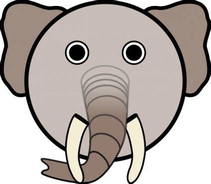 Clip Bulat gajah dengan wajah bulat clip vektor clip vektor gratis gratis