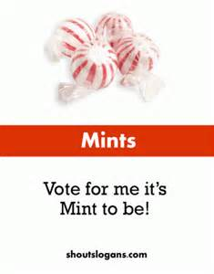 Another slogan that can be used with mints is i keep it fresh